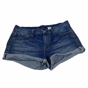 J CREW Shorts Shake It Wash Fray Hem Distressed 28
